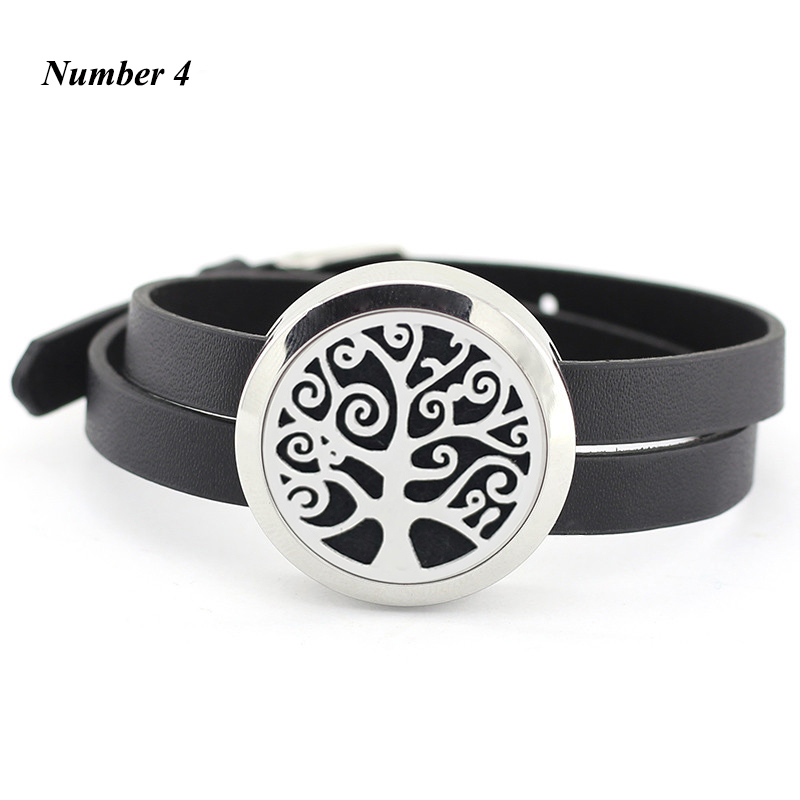 Aromatherapy Leather Bracelet 25mm 30mm twist stainless steel essentail oil diffuser bracelet for Women (free with 5pcs pads )
