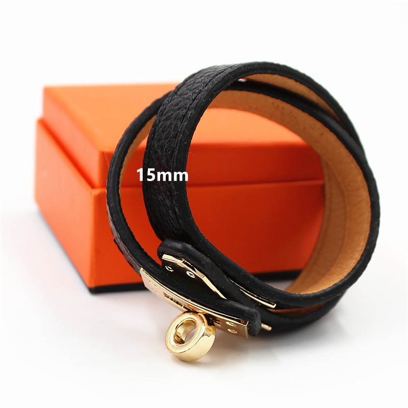 18mm Luxury Stainless Steel Cuff Bracelets&Bangles Wristband Enamel Bangle H Design Classic Original Bracelets LP002