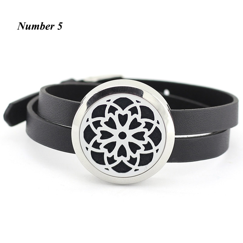 25MM 30MM Aroma Bracelet Floating Locket bracelet Stainless Steel silver Essential oil diffuser Bracelet (free with 5pcs pads)