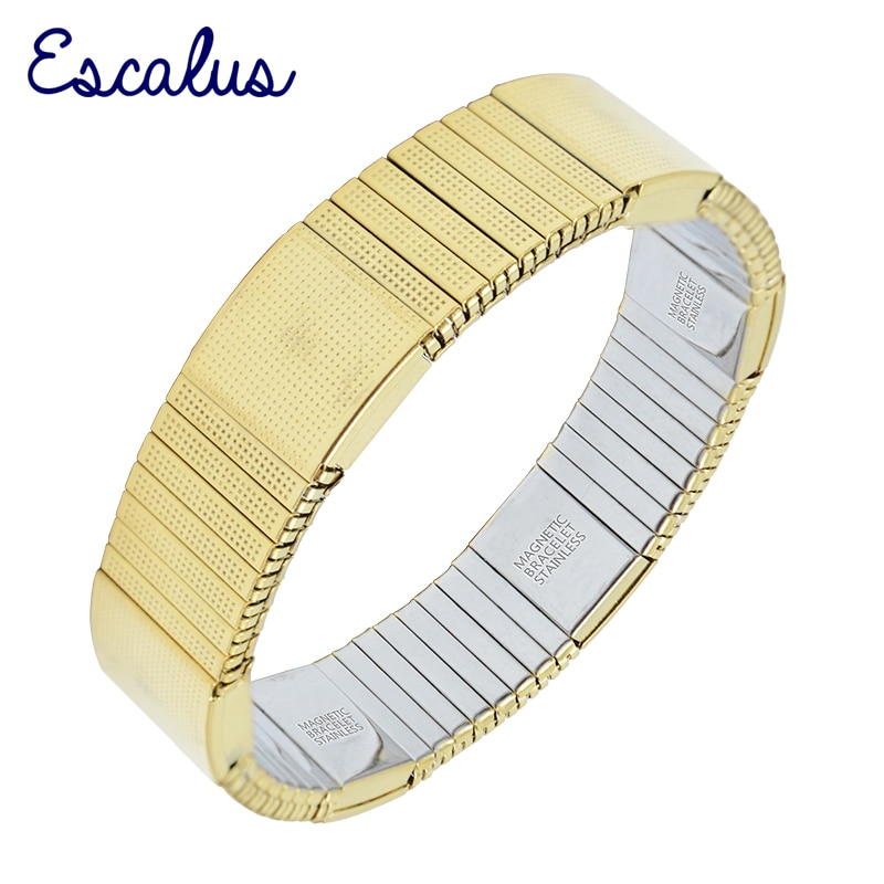 Escalus 2018 Elastic Strong Magnetic Bracelet For Men Imitation Costume Gold Color Ionic Plating Hot Charm Bracelets Wristband