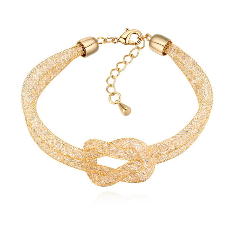 Fashion Wrap Bracelets Knot For Women Party Wedding Accessories Made With Austria Crystals Jewelry