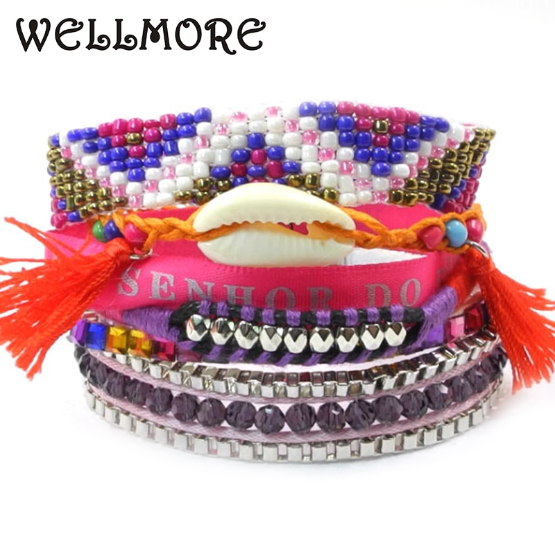 Summer new Style handmade wrap Bracelets for women Bohemia Bead Bracelet have S/M/L size B1412